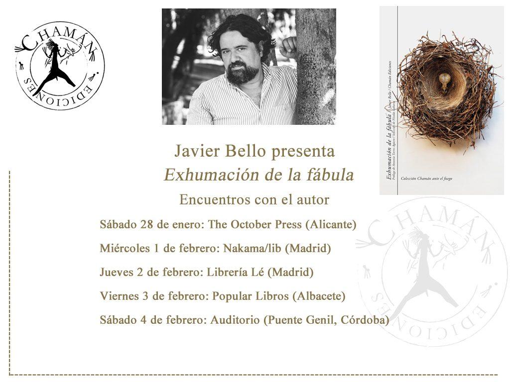 Presentaciones Javier Bello en España