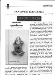 Reseña en Las Piletas de Hierofanías