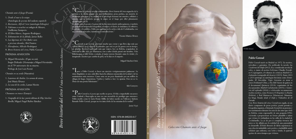 Portada de Breve Historia del Circo de Pablo Cerezal. Chamán Ediciones