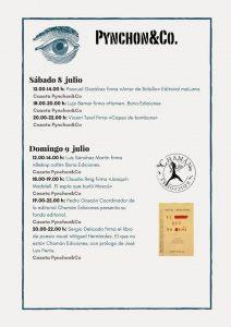 Horario de la Cartel XLVII Feria de Alicante con Chamán Ediciones