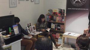 Mercedes Díaz concluyó el acto con la lectura de varios poemas.