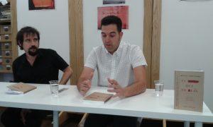 Momento de la intervención de Sergio Delicado