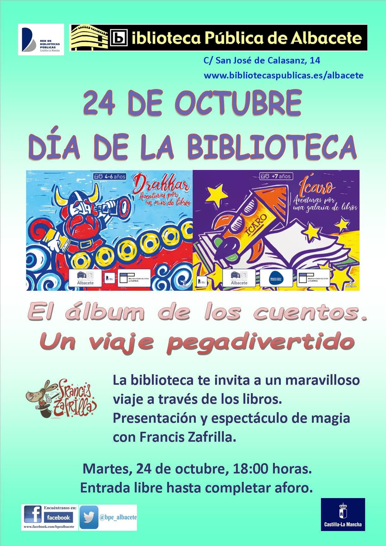 Cartel del día de las bibliotecas 2017