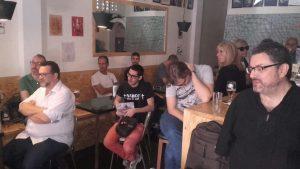 Algunos de los asistentes a la presentación de Breve historia del circo