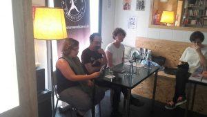 Noelia Illán Conesa, Pablo Cerezal y Esther Peñas durante la presentación de Breve historia del circo
