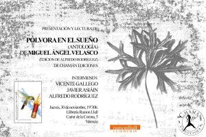 Invitación a la presentación de Pólvora en el sueño en Valencia