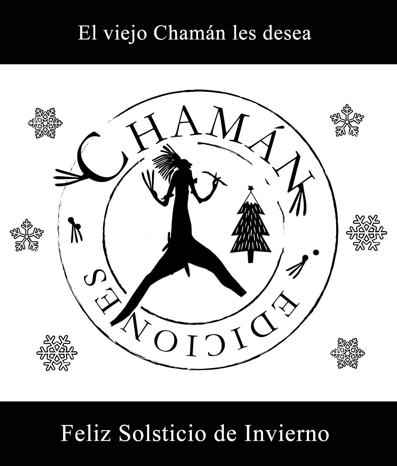 cartel invierno chamán ediciones - arbol de navidad