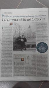 """Artículo de ABC sobre """"Las mudas soledades"""" de Pedro Gascón, Albacete, Chamán Ediciones, 2017"""