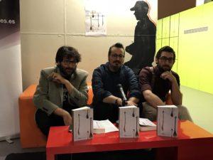 Octavio Gómez, Pedro Gascón y Saúl Blasco