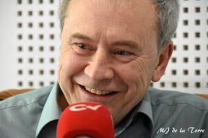Javier Sarti durante la entrevista en Pegando la hebra