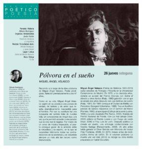 """Presentación de """"Pólvora en el sueño"""" de Miguel Ángel Velasco en el Ateneo de Pamplona"""