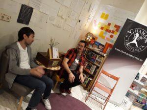Fran Nixon y Pedro Gascón durante el homenaje a Sergio Algora