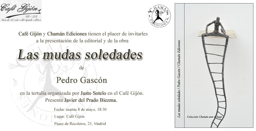 """Invitación """"Las mudas soledades"""" de Pedro Gascón en Madrid"""