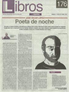 Animal fabuloso de José Óscar López (Chamán Ediciones, Albacete, 2018) en La Opinión de Murcia