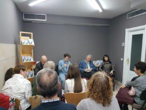 Esther Peñas y compañía en la presentación de Muga