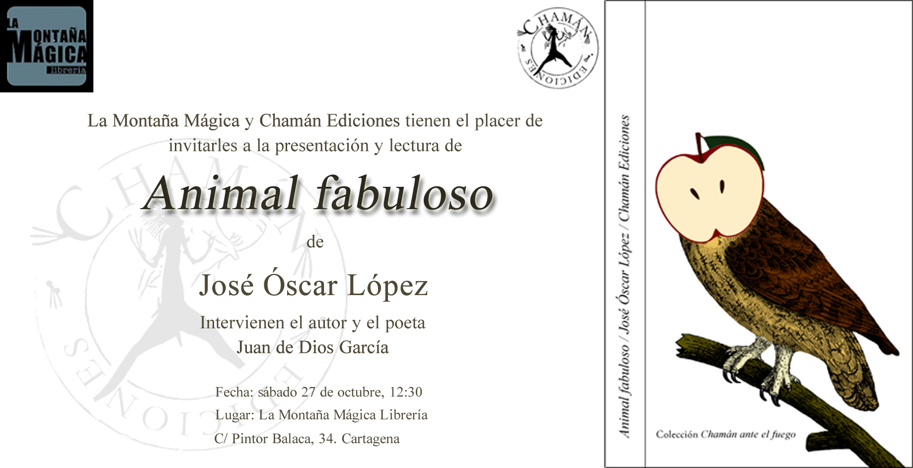 Invitación animal fabuloso cartagena