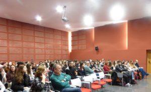 Público asistente al acto en la Casa de la Cultura José Saramago de Albacete
